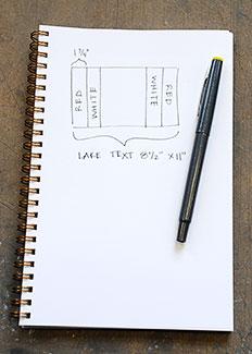 paper rosette diagram