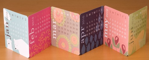 PS Mini Desk Calendar accordion
