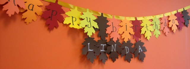 Fall Leaf Birthday Banner