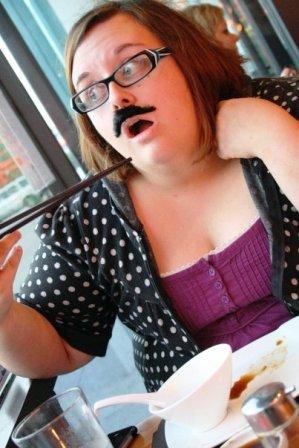 Kerri's fake mustache