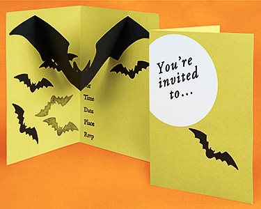 Pop up Halloween party invitation