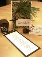 Winter Wedding Programs Placecards & Favors