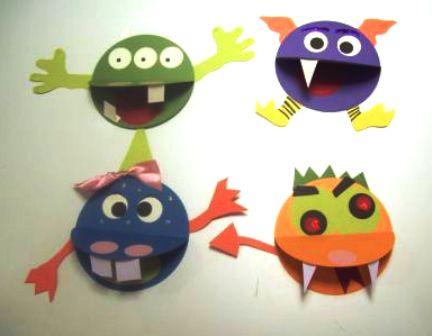 paper monsters kids craft
