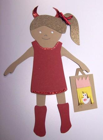 Devil paper doll