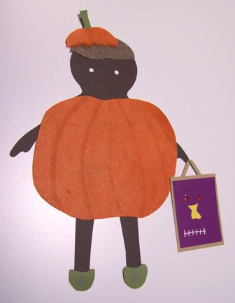 Pumpkin paper doll