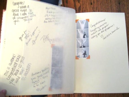 Wedding Guest Book Inside