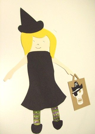 Witch paper doll
