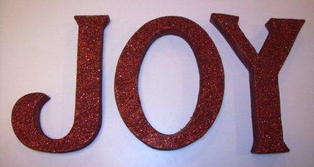 Glitter kraft letters