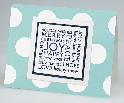 Holiday card making rubber stamps