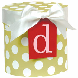 Initial gift tags