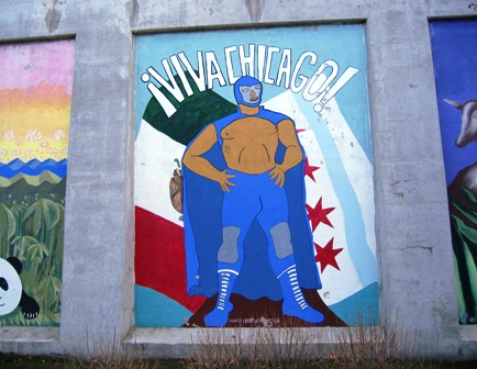 Luchas wall mural