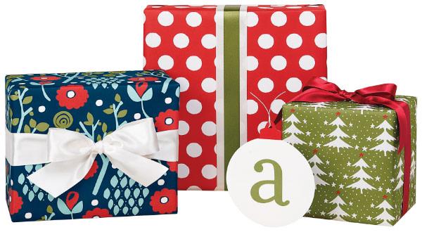 Monogram gift wrapping