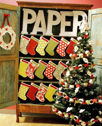 paper holiday decorations - Small Christmas Stocking Decorations