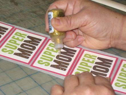 Stickles on handmade cards