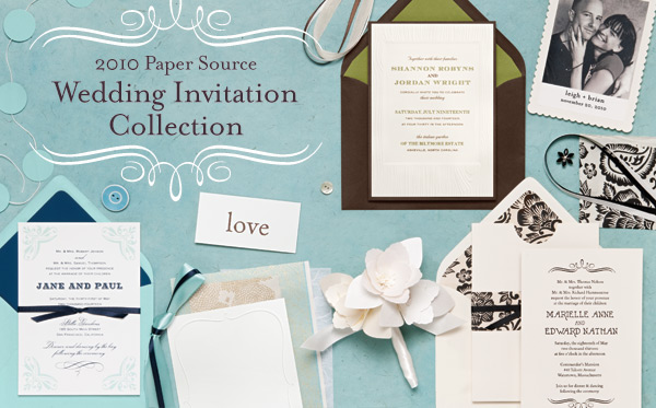 Paper Source 2010 Wedding Invitations