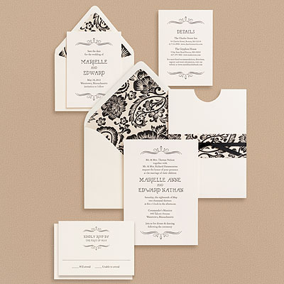 PS Vintage Marquis Wedding Invitations