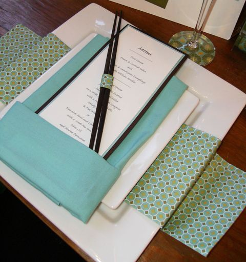 Sample wedding menus