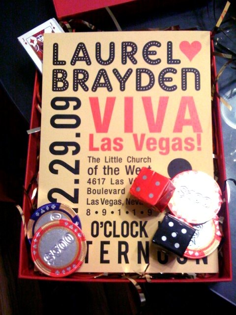 Viva Las Vegas invitations