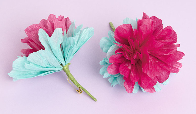 How to paper flower pins paper source blog tissue paper flowers mightylinksfo