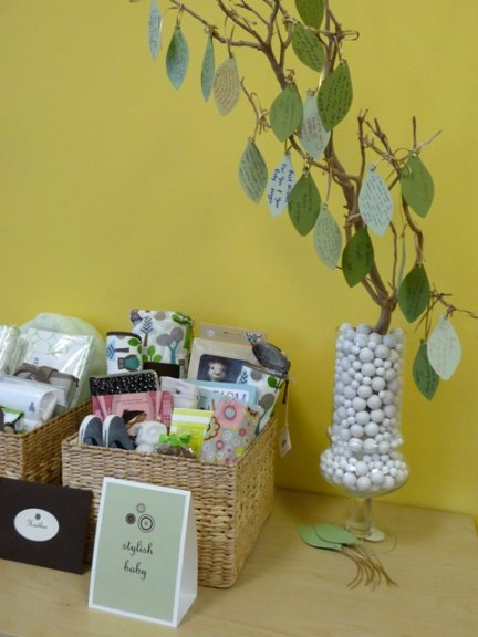 Baby shower wish tree
