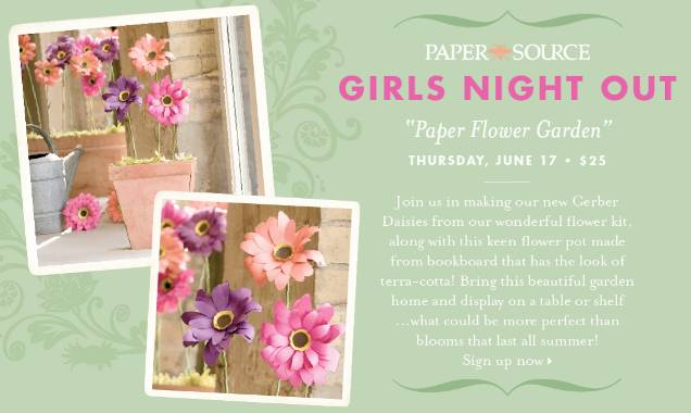 Girls Night Out Paper Flowers
