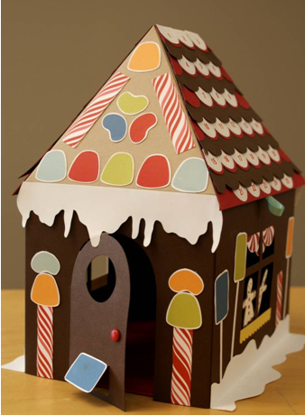how to make a 3d gingerbread house out of paper