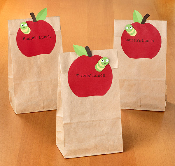 Take Treats For School In Paper Bags With Adorable Personalized Labels Run Our Large Circle Through The Printer Print Template Or Write