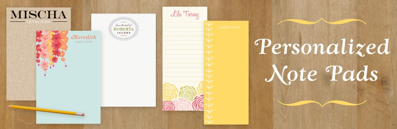 put a name on it new personalized note pads paper source blog