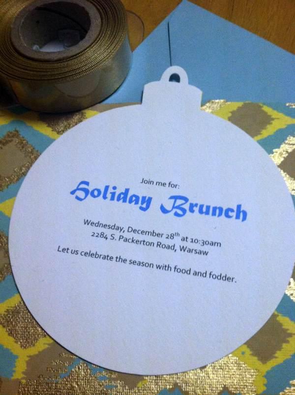 holiday brunch invitation