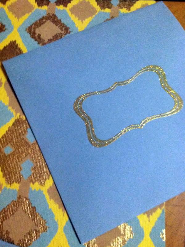 embossed envelope