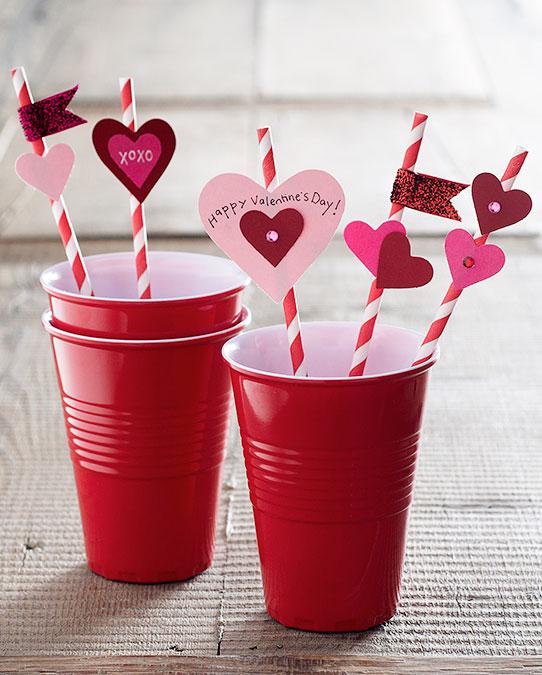 valentine's straws