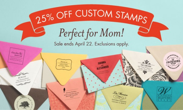 Paper Source Custom Stamp Sale