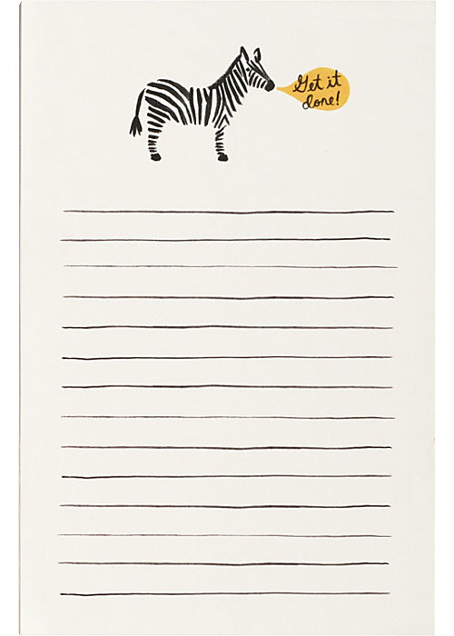 Rifle Zebra Notepad