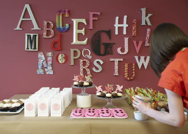 Alphabet Baby Shower Idea