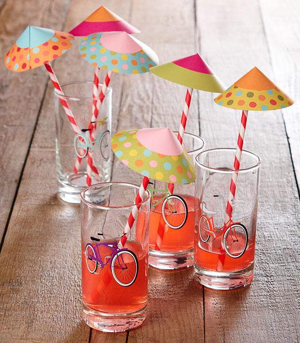 Dressy Drink Paper Parasols