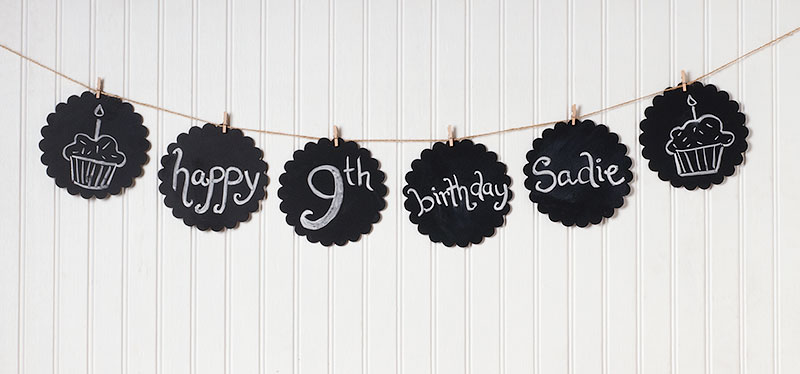 Chalkboard Banner How To