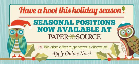 Paper Source Careers