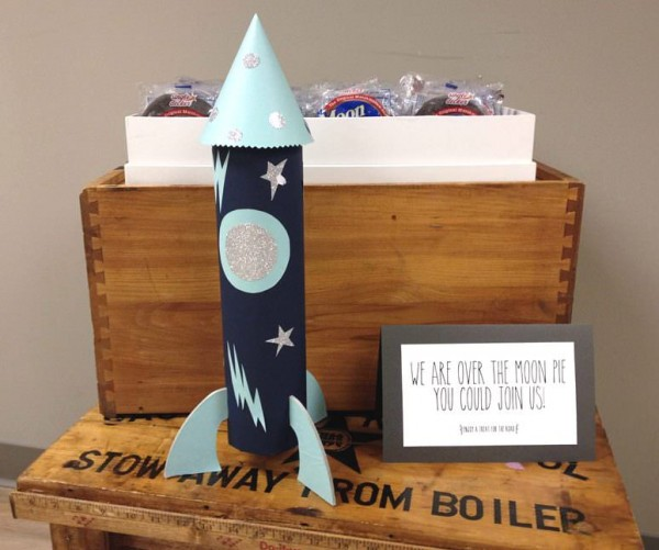 space baby shower favors