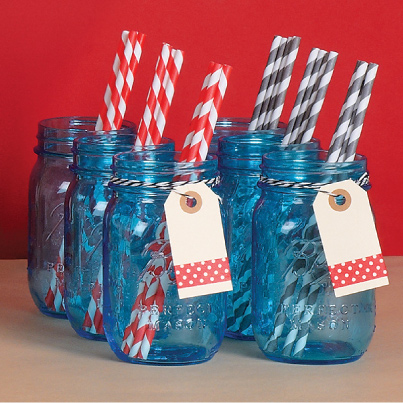 jars with straws