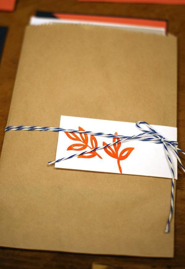 letterpress favor bags