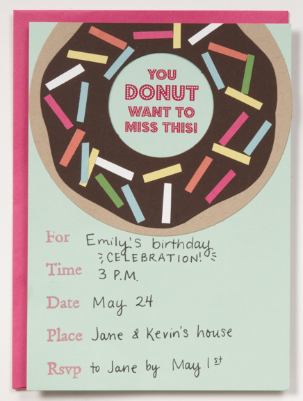 Paper Source HowTo Donut Invitation Paper Source Blog