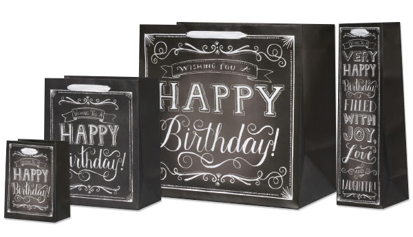 Happy Birthday Chalk Gift Bags