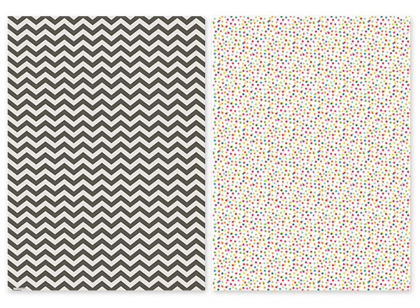 Chevron Gift Wrap and Dots Gift Wrap