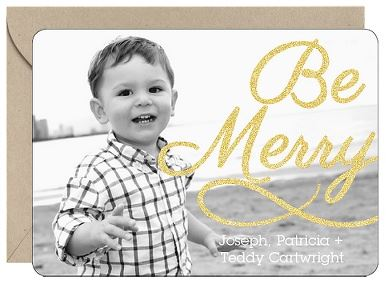 Be Merry Glitter Card