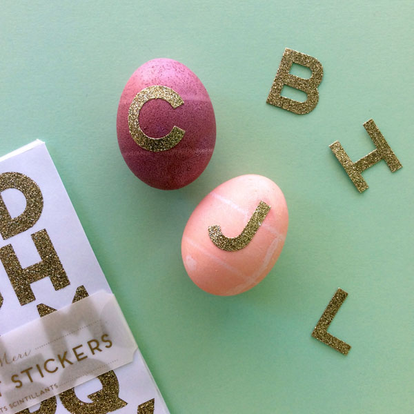 Easter Egg Gold Letters