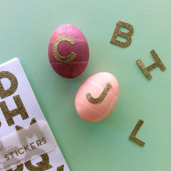 Easter Egg Gold Letters
