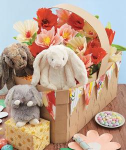 DIY paper woven Easter basket