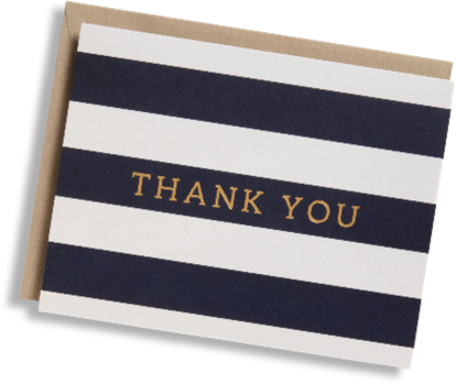 Paper Source thankyou-card