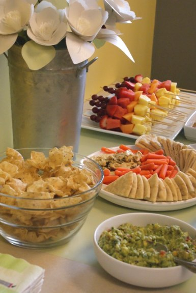Afternoon Reception Food Ideas