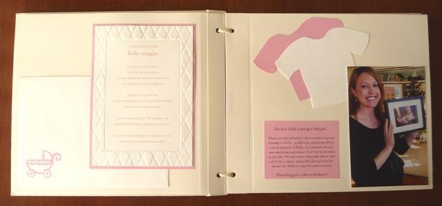 building a baby shower album paper source blog. Black Bedroom Furniture Sets. Home Design Ideas